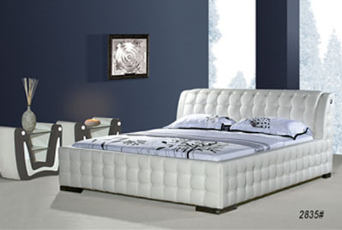 QUEEN TRIESTA (2835#) LEATHERETTE BED - ASSORTED COLOURS AVAILABLE