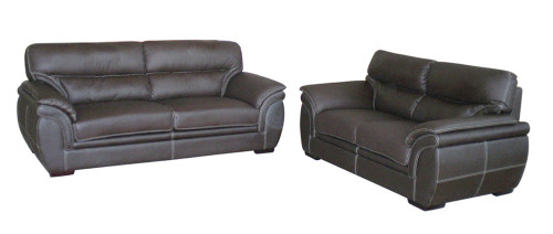 MATILDA 3 SEATER + 2 SEATER BONDED LEATHER LOUNGE - BLACK, RED, GREY OR BEIGE