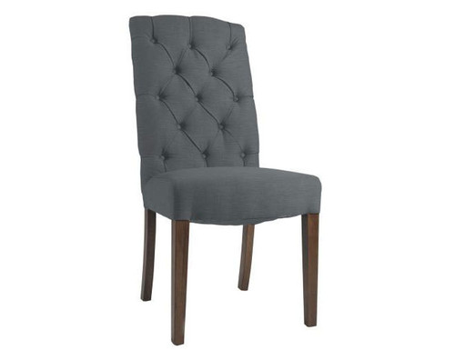 FELICE (V-1041) LINEN DINING CHAIR - BEIGE OR CHARCOAL