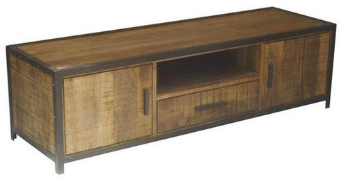 MONTEGO (MG-005) 2 DOOR TV UNIT WITH 1 DRAWER - 1800(W) - ANTIQUE NATURAL