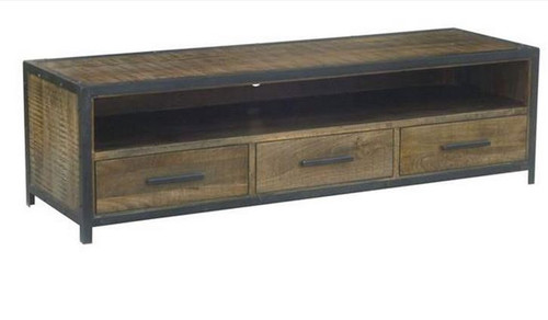 MONTEGO (MG-005) TV UNIT WITH 3 DRAWERS - 1800(W) - ANTIQUE NATURAL