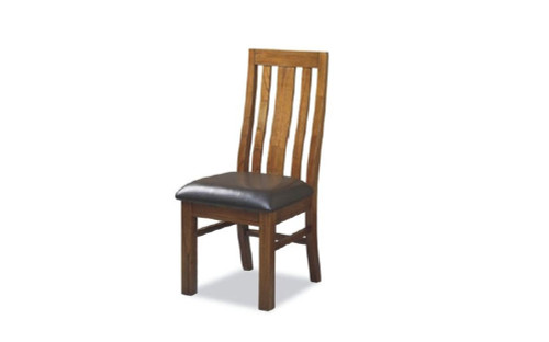 RADIUS  LEATHERETTE SEAT DINING CHAIR (MODEL 20-15-19-3-1-14-1)- NATURAL