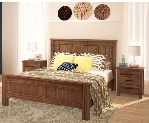 KING RADIUS (VTO-025) BED (MODEL 20-15-19-3-1-14-1) - NATURAL