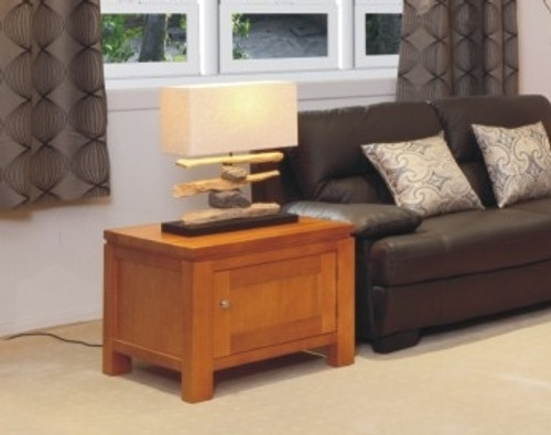 SUNNY LAMP TABLE WITH LEGS AND 1 DOOR - 700(W) - CHOICE OF COLOURS
