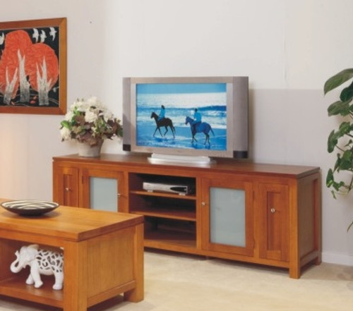 JOESUN TV UNIT WITH 2 DOORS, LEGS AND 2 DVD PULLOUTS - 2000(W) - CHOICE OF COLOURS