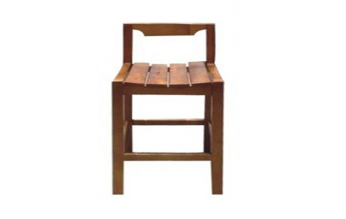WM BAR STOOL WITH BACK SUPPORT - GOLDEN BROWN (AL1)