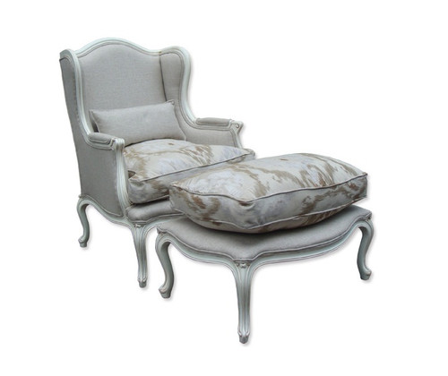 BERGERE (CH002N)  ARMCHAIR WITH OTTOMAN