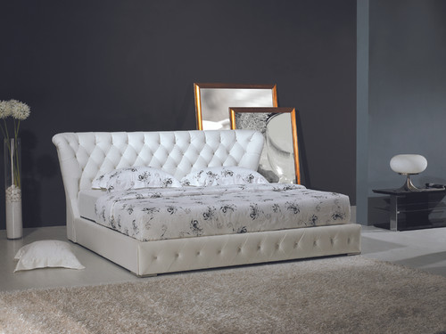 ANGELINA (618) DOUBLE OR QUEEN 3 PIECE BEDSIDE BEDROOM SUITE (WITH GLASS TABLE BEDSIDES) - ASSORTED COLORS