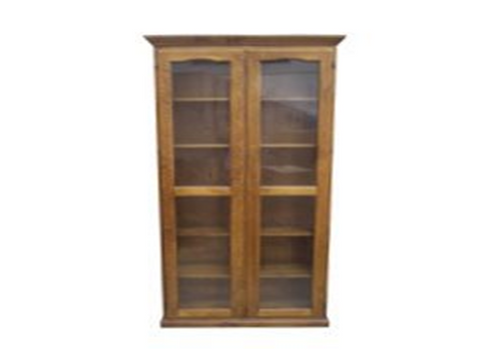 LIBRARY 2 DOOR DISPLAY CABINET (Z-3) - 1800(H) - BALTIC(#215) OR WALNUT(#219)