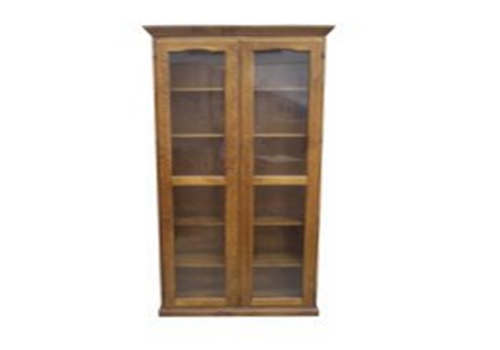 LIBRARY 2 DOOR DISPLAY CABINET (Z-4) - 2100(H) x 900(W) - BALTIC(#215) OR WALNUT(#219)
