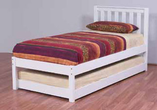 KING SINGLE KADO BED WITH KING SINGLE BUDGET UNDERBED TRUNDLE - ARCTIC WHITE OR WALNUT