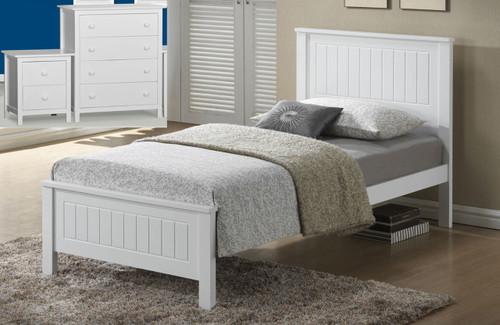 QUINCY SINGLE 3 PIECE BEDROOM SUITE (WS-1301) WITH KADO CASE GOODS - WHITE