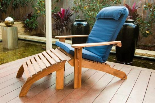MAYOTTE ADIRONDACK CHAIR WITH FOOTSTOOL + CUSHION (PACKAGE OPTION)
