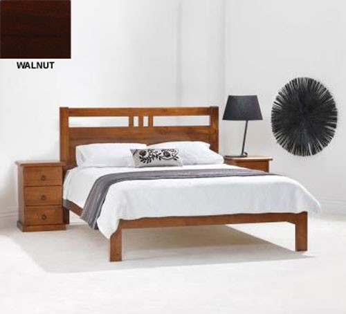 TORONTO DOUBLE OR QUEEN 4 PIECE BEDROOM SUITE (TALLBOY NOT PICTURED) (MODEL 11-1-20-5) - BLACKWOOD OR WALNUT