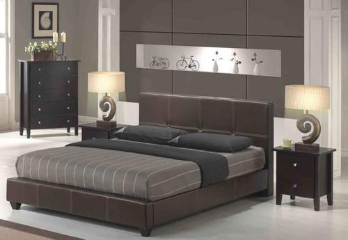 KYOTOS (ITG22B) QUEEN 4 PIECE TALLBOY BEDROOM SUITE - CAPPUCCINO