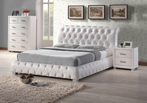 VALENCIA KING 3 PIECE BEDSIDE BEDROOM SUITE - WHITE OR BLACK