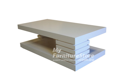 HUGO COFFEE TABLE  -  1200(W) X 600(D) -  WHITE, ANTIQUE WHITE, WHITEWASH & BRUSHED COLOUR OPTIONS