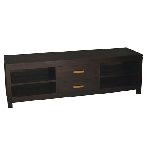 MILAN 2 MIDDLE DRAWER ENTERTAINMENT UNIT -  1600(W) - MAHOGANY OR CHOCOLATE