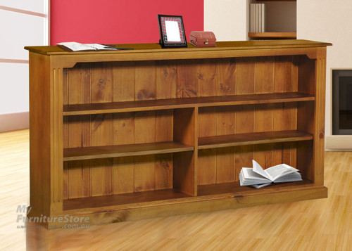 TIMBER FEDERATION LOWLINE BOOKCASE (3 X 6) - 900(H) X 1800(W) - ASSORTED COLOURS