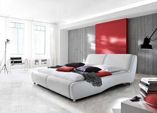 KING MASSA LEATHERETTE BED (L003) - ASSORTED COLOURS