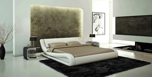 KING CALABRIA LEATHERETTE BED (3038B) - ASSORTED COLOURS