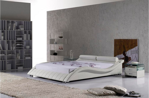 QUEEN APURIA LEATHERETTE BED (3049) - ASSORTED COLOURS