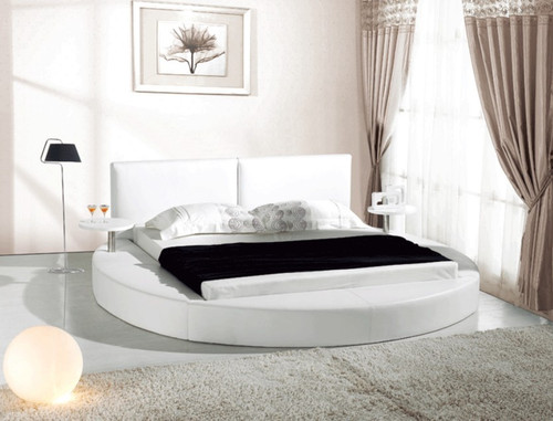 LOGURNIA QUEEN 3 PIECE BEDSIDE BEDROOM SUITE - LEATHERETTE - ASSORTED COLOURS (BEDSIDES INCLUDED WITH BED)