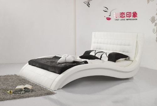 QUEEN TROGINO LEATHERETTE BED (3068) - ASSORTED COLOURS