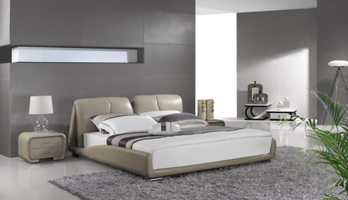 QUEEN AVERSA LEATHERETTE BED (A9306) - ASSORTED COLOURS