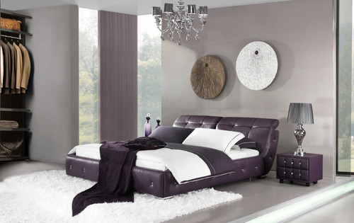 QUEEN ANZIO LEATHERETTE BED (A9308) - ASSORTED COLOURS - (WITH OPTIONAL UPGRADE FOR GAS LIFT UNDERBED STORAGE)