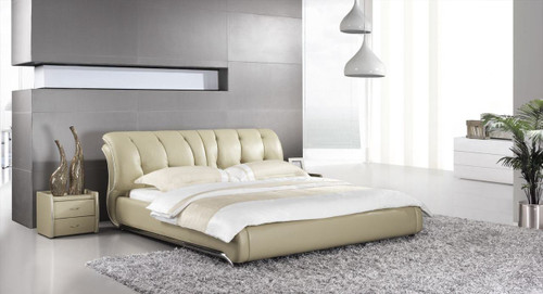 KING SANROMA LEATHERETTE BED (A9309) - ASSORTED COLOURS
