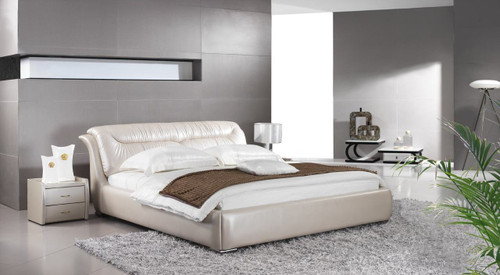 KING FOLIGNO LEATHERETTE BED (A9311) - ASSORTED COLOURS - (WITH OPTIONAL UPGRADE FOR GAS LIFT UNDERBED STORAGE)