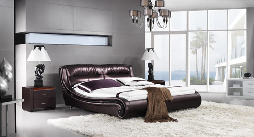 QUEEN SIENNA LEATHERETTE BED (A9938) - ASSORTED COLOURS