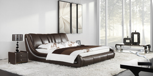 KING OLTENZA LEATHERETTE BED (A9939) - ASSORTED COLOURS - (WITH OPTIONAL UPGRADE FOR GAS LIFT UNDERBED STORAGE)