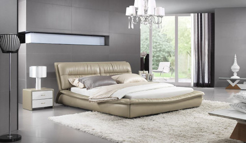 QUEEN SCILLA LEATHERETTE BED (A9966) - ASSORTED COLOURS