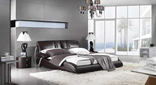 KING PIEDMONT LEATHERETTE BED (A9967) - ASSORTED COLOURS