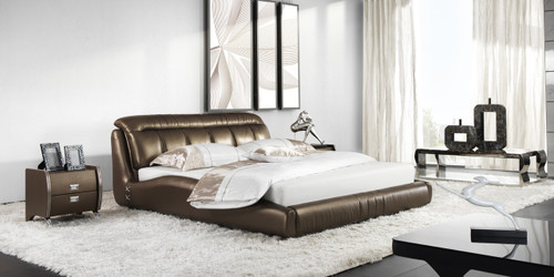 QUEEN SCANNDIKI LEATHERETTE BED (A9976) - ASSORTED COLOURS