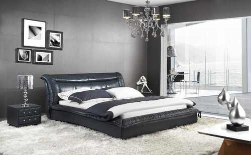 QUEEN ALEXANDRO LEATHERETTE BED (A9982) - ASSORTED COLOURS - (WITH OPTIONAL UPGRADE FOR GAS LIFT UNDERBED STORAGE)
