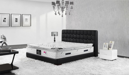 QUEEN PIERRO LEATHERETTE BED (A9985) - ASSORTED COLOURS