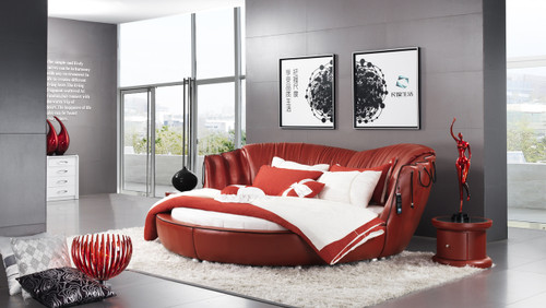 QUEEN TERAMO LEATHERETTE BED (A9932) - ASSORTED COLOURS