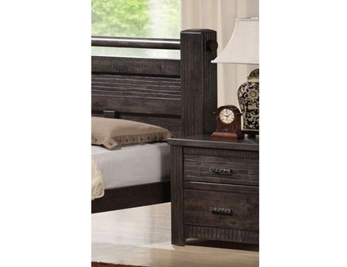 ASHCOURT 2 DRAWER BEDSIDE (5-4-9-19-15-14)  - CHARCOAL