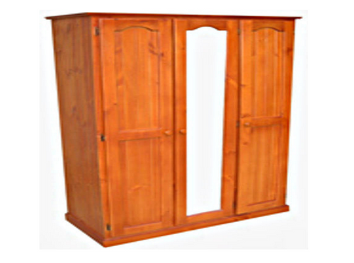 MUDGEE TIMBER 3 DOOR WARDROBE COMBO - 1800(H) X 1300(W) -  ASSORTED COLOURS