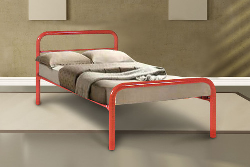 DOUBLE BUDGET METAL BED - ASSORTED COLOURS