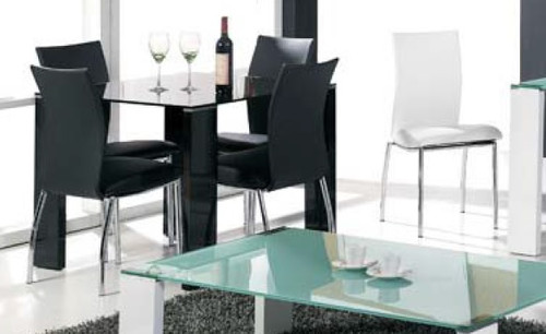 PHOENIX DINING CHAIR - BLACK OR WHITE