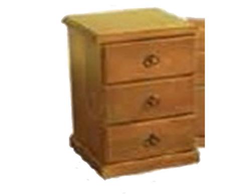 PROMO 3 DRAWER BEDSIDE - BLACKWOOD (1014) OR WALNUT (1117)
