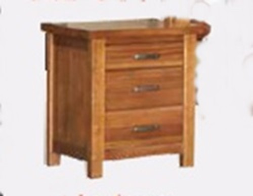 MONTANA 3 DRAWER BEDSIDE TABLE - MOUNTAIN GUM (2058)