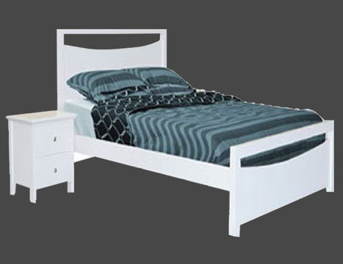 QUEEN HOLLY BED - FULL PANEL (3307) - WHITE