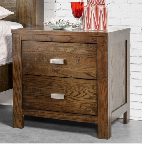 MEMPHIS 3 DRAWER BEDSIDE (NOT AS PICTURED) - SMOKEY GREY