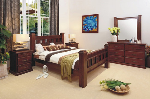 RUSTIC DOUBLE 6 PIECE BEDROOM SUITE