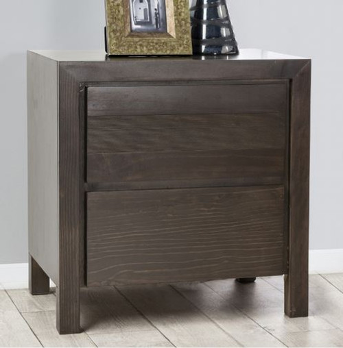 TREND 2 DRAWER BEDSIDE TABLE - CHARCOAL